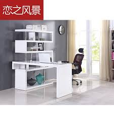 computer furniture for home. floating landscape modern minimalist white paint shelves corner desk desktop home computer furniture for