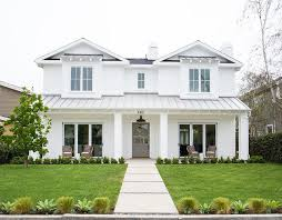 exterior white paintNewport Heights Modern Farmhouse  Gray front doors Exterior