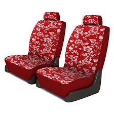 dash designs hawaiian 1st row red custom seat covers