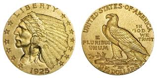 1925 D Indian Head Gold 2 50 Quarter Eagle Early Gold Coins