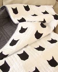Best 25+ Quilts for sale ideas on Pinterest | Barn quilts for sale ... & SALE 10% OFF - Modern Toddler Quilt / Cat Quilt / Black and White Quilt Adamdwight.com