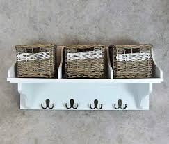 shelf hooks storage unit white wall