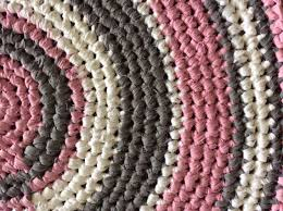 crochet pink and grey rug crochet rug cotton by pink and gray rugs for nursery