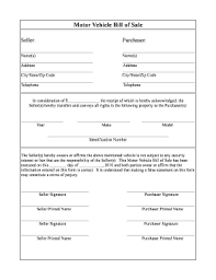 Printable Automobile Bill Of Sale Motor Vehicle Bill Of Sale Pdf Form Fill Out And Sign