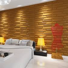 a21066 3d bricks wall panels plant fiber tile off white set of 6