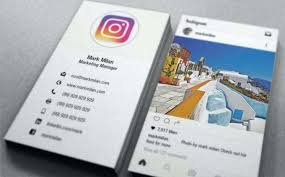 Social Media Business Cards Template Card With Icons Turn