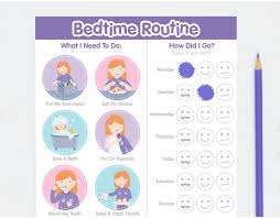 Bedtime Routine Chart Buy Personalised Girl Bedtime Routine Chart Online