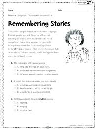 Mommy Resources For First Third Grade Retelling Worksheets Third ...