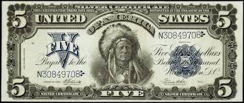Paper Money Of The United States Five Dollar Silver