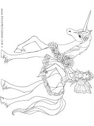 Unicorn And Fairy Wwwpheemcfaddellcom Colouring Pages File