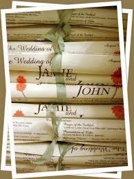 Wedding Program Scroll One Page Diy Wedding Programs The Scroll Diy Wedding