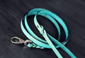 leash leather dog leash dog leash 5 8 inch wide braided image 0