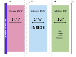 Trifold Brochure Size Adobe Indesign Trifold Brochure Where Do The Fold Lines Go
