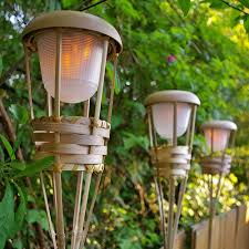 lighting tiki torches. 2 Pcs Outdoor String Lights Tiki Torch Light Bamboo Flickering LED Battery Operated Luau Lighting Torches