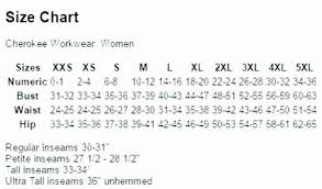 Cherokee Scrubs Size Chart 4770 Ladies Cherokee Snap Front Top