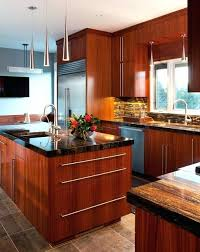 T Mahogany Kitchen Cabinets Contemporary  Design For Sale