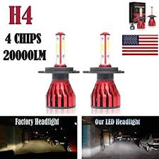 2Pcs H4 LED Headlight Bulbs Conversion Kit 9003 ... - Amazon.com