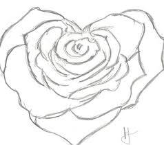 Cool Drawings Of Roses Drawn Hearts Rose 2 900 X 799