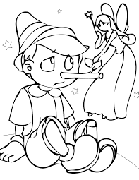 The Pinocchio Coloring Pages Feature The