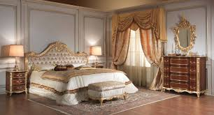 furniture design bed. Set Kamar Tidur - Luxury Classic Gold Leaf Furniture Design Bed