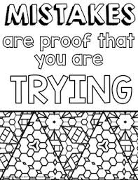 Growth Mindset Coloring Pages By To The Square Inch Kate Bing Coners