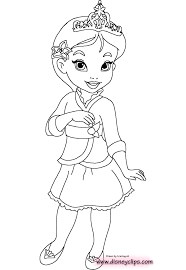 disney baby princess coloring pages line drawings adorable all 20
