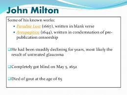 poem analysis on on his blindness by john milton john milton