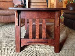 logan wood works mission style oak coffee and end tables