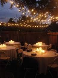 Backyard Wedding Lighting Ideas Wedding Definition Ideas