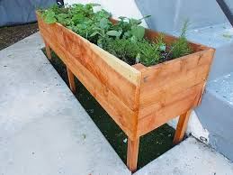 raised planter box for your herb garden