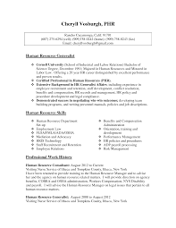 Cover Letter Hr Resume Format For Manager Human Resources Template ...