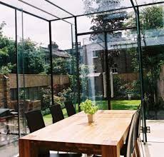 Glass structures are designed to bring the garden inside