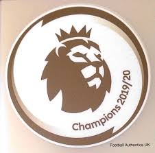 2019-20 Liverpool PREMIER LEAGUE CHAMPIONS Official Player Issue Size  Football Soccer Badge Patch