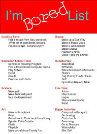 mom i m bored list and other great printables