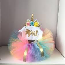Sweet Fairy Baby Girls Unicorn Dress For Girl Christening Baptism