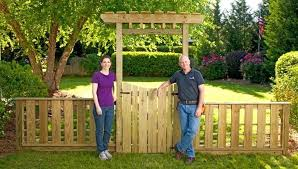 picket fence gate with arbor. Garden Gate With Arbor Charming And Fence Ideas . Picket