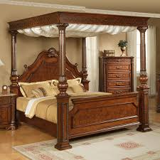 Extraordinary Wood Canopy Bed Images Decoration Inspiration