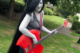 creating marceline from adventure time s b guitar costuy tutorial brown bag labs