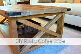 ... Brown Rectangle Varnished Wood DIY Rustic Coffee Table With Wheels  Designs For Living Room ...