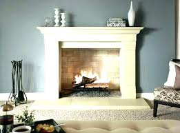 white faux fireplaces