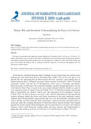 Essay About Invention Pdf Nature Wit And Invention Contextualizing An Essay On