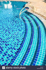 Swimming pool for summer outdoor sport background Stock Photo