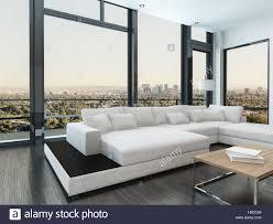Große Komfortable Weiße Moderne Modulare Lounge Suite In Einem