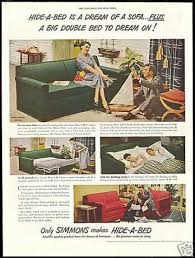 simmons hide a bed. simmons hide a bed sofa photo vintage (1950)