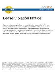Lease Violations Best Photos Of Letter Of Lease Violation Warning Notice Of