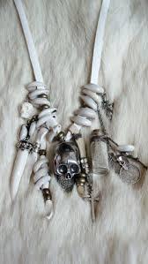 skull necklace leather men women uni goth gothic by sparrow skull necklace leather men