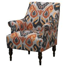 Target Living Room Chairs Candace Arm Chair Ikat Gray Orange From Target Center Room