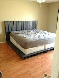 pallet king size bed wooden pallet bed 2 king size bed boosting comfort and coziness