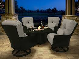 castelle sienna cast aluminum 38 round sienna coffee table with firepit and lid