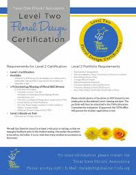 Texas Floral Design Certification The Texas State Florists Association